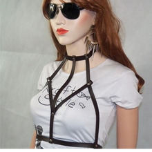 City casual body top handmade leather harness, leather belt, leather outwear, Corps harnais ceinture Nouveau sexy Harness woman