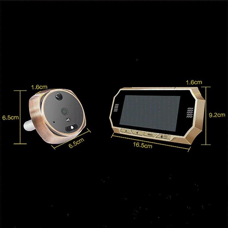 Купить с кэшбэком 4.3 Intelligent wireless visual doorbell high definition photo recording video intercom monitor camera 720P max supports 32GB