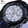 Padrão pneu Silicone Strap Top Marca de Luxo Homens Esportes Relógios de Quartzo Grande Mostrador do Relógio À Prova D' Água horloge Heren Xfcs Novo