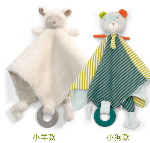 Кэндис Го! Новое поступление детские игрушки супер мягкие спокойствие салфетки успокоить полотенце ребенка прорезыватель-погремушка овча...