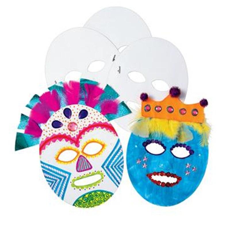 Ev Ve Bahce Ten Parti Maskleri De 24 Adet Lot Boya Bitmemis Kagit