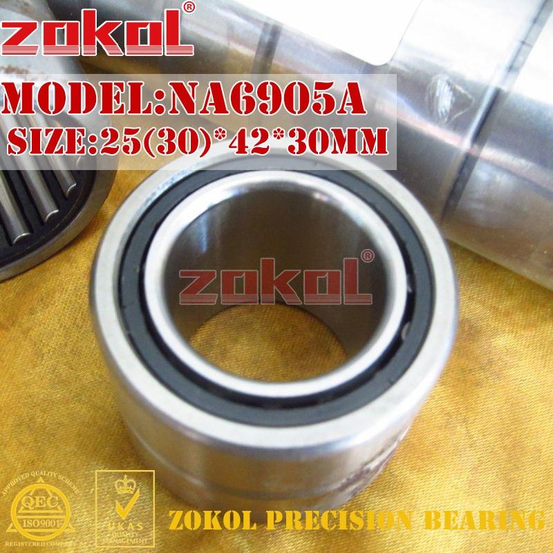 ZOKOL bearing NA6905 A Entity ferrule needle roller bearing 25(30)*42*30mm na4910 heavy duty needle roller bearing entity needle bearing with inner ring 4524910 size 50 72 22