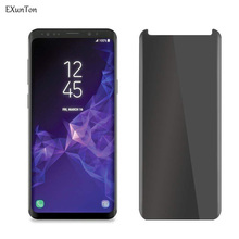 EXUNTON Anti Spy Tempered Glass For Samsung Galaxy S8 Plus S8Plus Privacy Black Screen Protector 2.5D Phone Protective Film