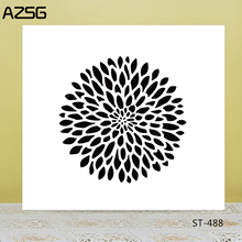 AZSG Multi Petals Flower Clear Stamps For DIY Scrapbooking/Card Making/Album Decorative Silicone Stamp Crafts