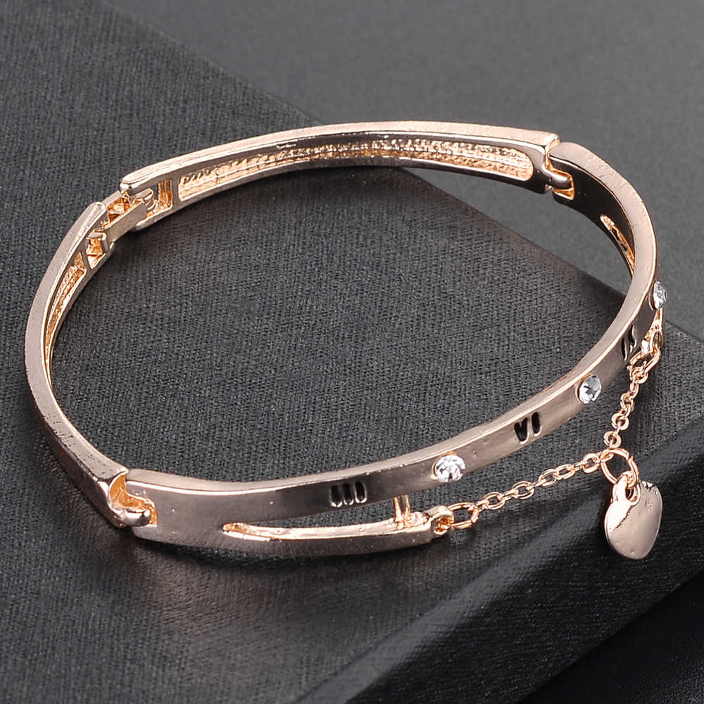 5a795b5c531dd W517 2018 New Arrival Korean Personalized Pendant Bangle Rose Gold And  Silver Jewelry Nickel Free Women Bangles Graduation Gift