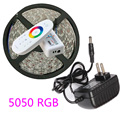 DC12v 5M LED Strip light 5050 SMD RGB 300 Led Tape non ip68 tube waterproof Led Stripe /Touch Controller / 12V 3A Power Adapter
