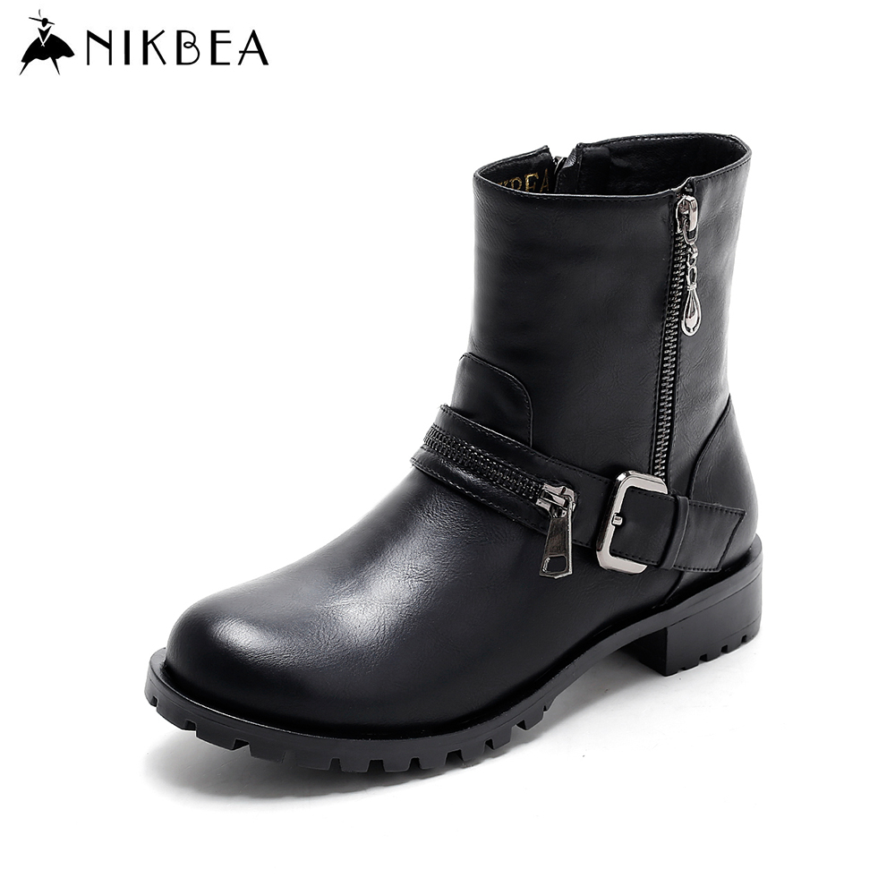 Online Get Cheap Black Chunky Heel Ankle Boots -Aliexpress.com ...