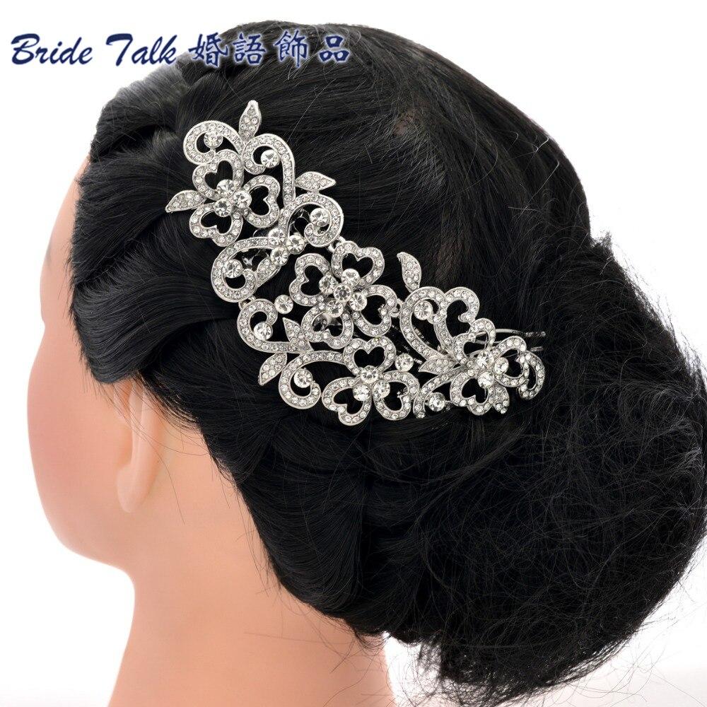 Big Long Flower Wedding Bridal Hairpins Hair Comb Hair