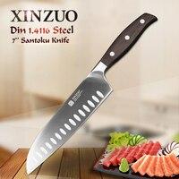 XINZUO 7 inch Santoku Knife GERMAN DIN1.4416 Steel Kitchen Knife Sharp Stainless Steel Japanese Style Chef Knives Kitchen Tool