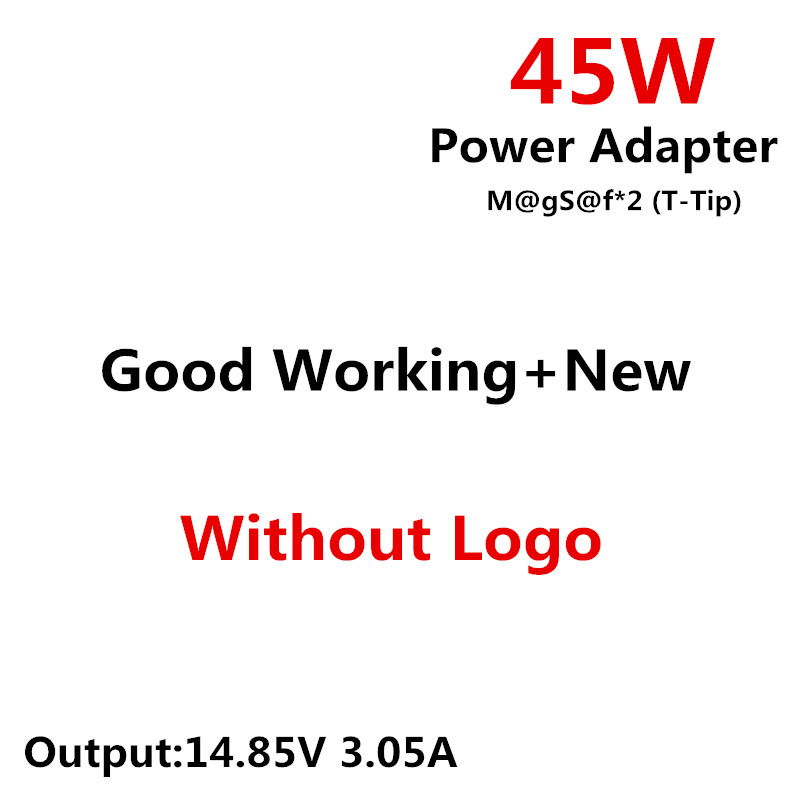 RsFow m@gS@f* 2 45W 14.85V 3.05A T-Tip Laptop Power Adapter Charger For apple MacBook Air 11 13 A1465 A1436 A1466 A1435