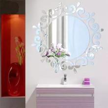 Fashion Mirror Stickers Home Washroom Bathroom Decal Wall St