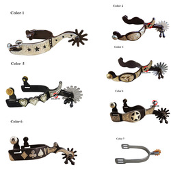 1 Pair Horse Western Spurs Horse riding , horse racing Equipment Equestrian Rider paardensport cheval Hand carved flower Spurs A