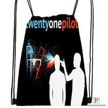Custom Twenty One Piolots Drawstring Backpack Bag Cute Daypack Kids Satchel (Black Back) 31x40cm#2018612-01-9