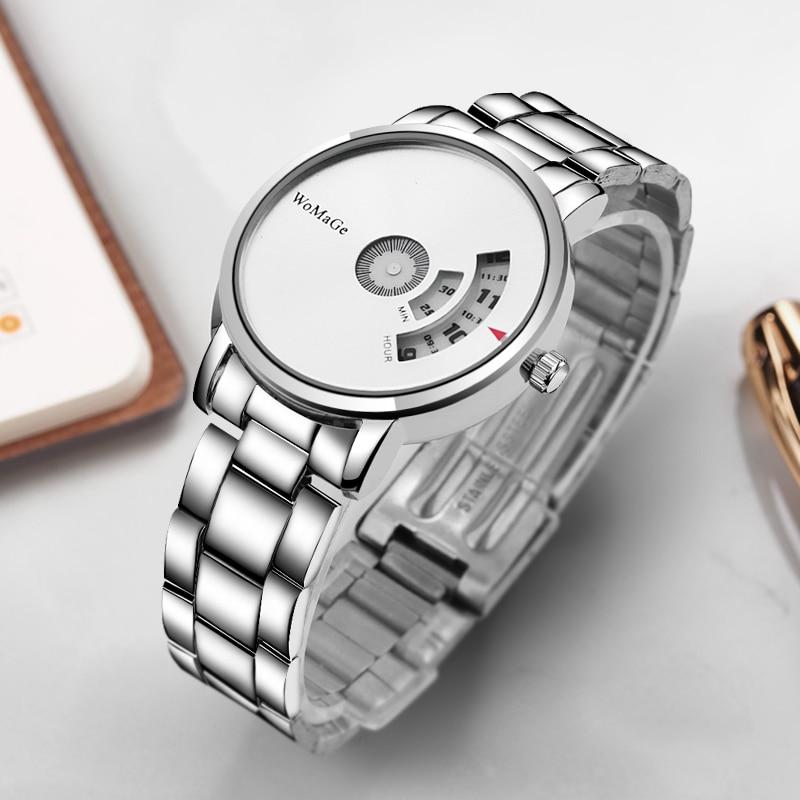 Montre Homme 2019 New Hot Sell Brand WoMaGe Wrist Watch Luxury Unique Style Men Quartz Watches Fashion Designer Male Watch