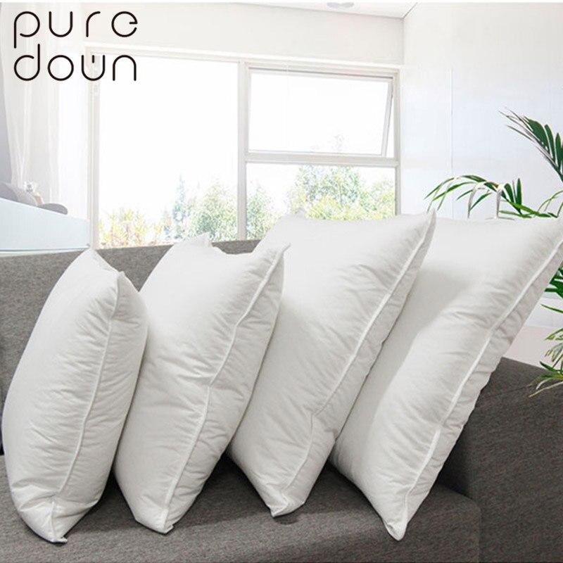 Puredown Home Living oreiller en duvet d'oie et plume carré blanc sommeil blanc coton jeter coussins oreiller de maternité
