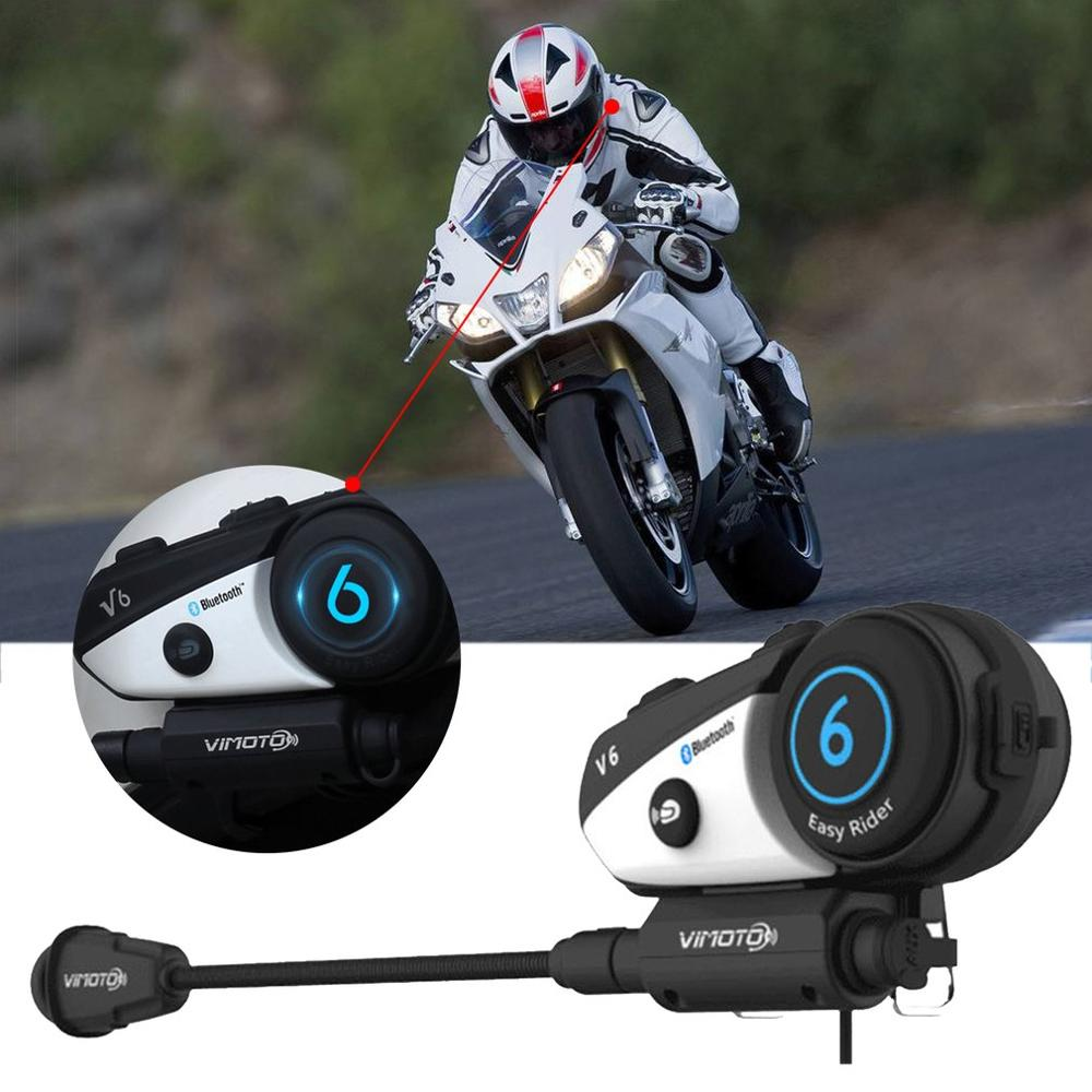 English VersionHelmet Headset Easy Rider Moto Vimoto V6 Multi-functional Stereo Headphones For Cell Phone And GPS Radio