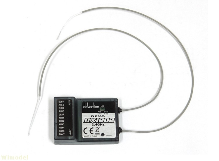 ФОТО F09071  Walkera DEVO RX1202 12 Channel Receiver 2.4Ghz 12CH For Walkera DEVO Transmitter