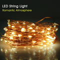 New 10M Copper Wire LED String Light Outdoor Lighting Strings Waterproof Fairy Lights For Christmas Wedding Decoration