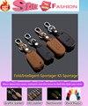 Высокое качество стайлинга автомобилей кожаный ключи от машины сумка чехол брелок интеллектуальные / складной специально для Kia Sportager K5 Sportage