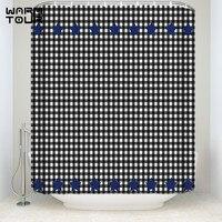 Bath Shower Curtains Black And White Grid Stars Plaid Mosaic Star Mildew resistant Bathroom Decor Sets with Hooks 72 x 84