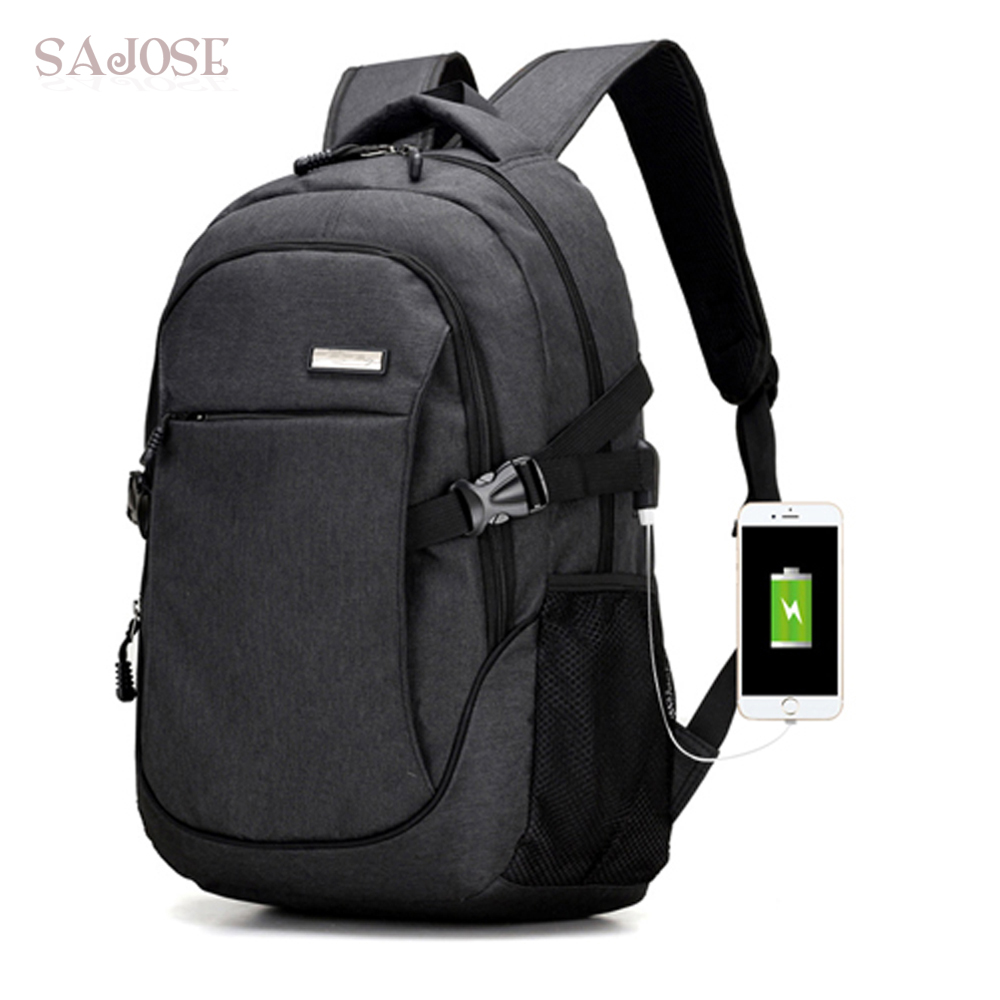 Anti-thief USB Backpack For Women Men Laptop Backpack Fashion Casual Canvas School Bags  ...
