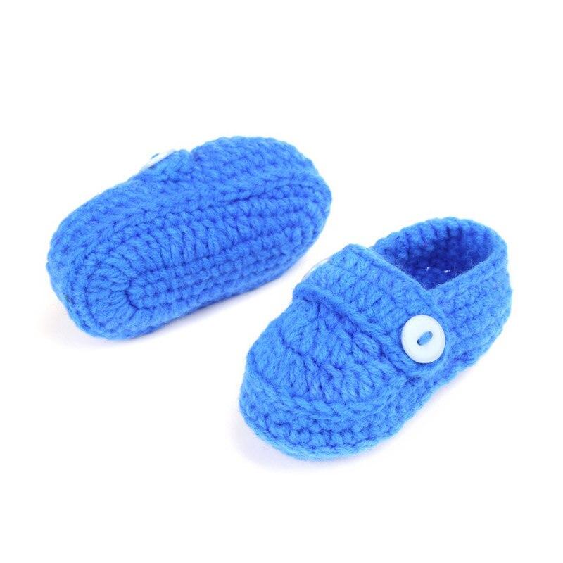 Мода пряжки для маленьких мальчиков Обувь ручной работы Вязание крючком пинетки дешевые детские вязаные Обувь каблук 10 см
