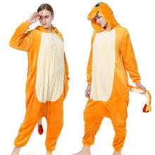 Kigurumi Charmander Pokemon Pikachu Pyjamas Tier Sipderman Party Cosplay Kostüm Flanell Onesies Spiel Cartoon Tier Nachtwäsche(China)