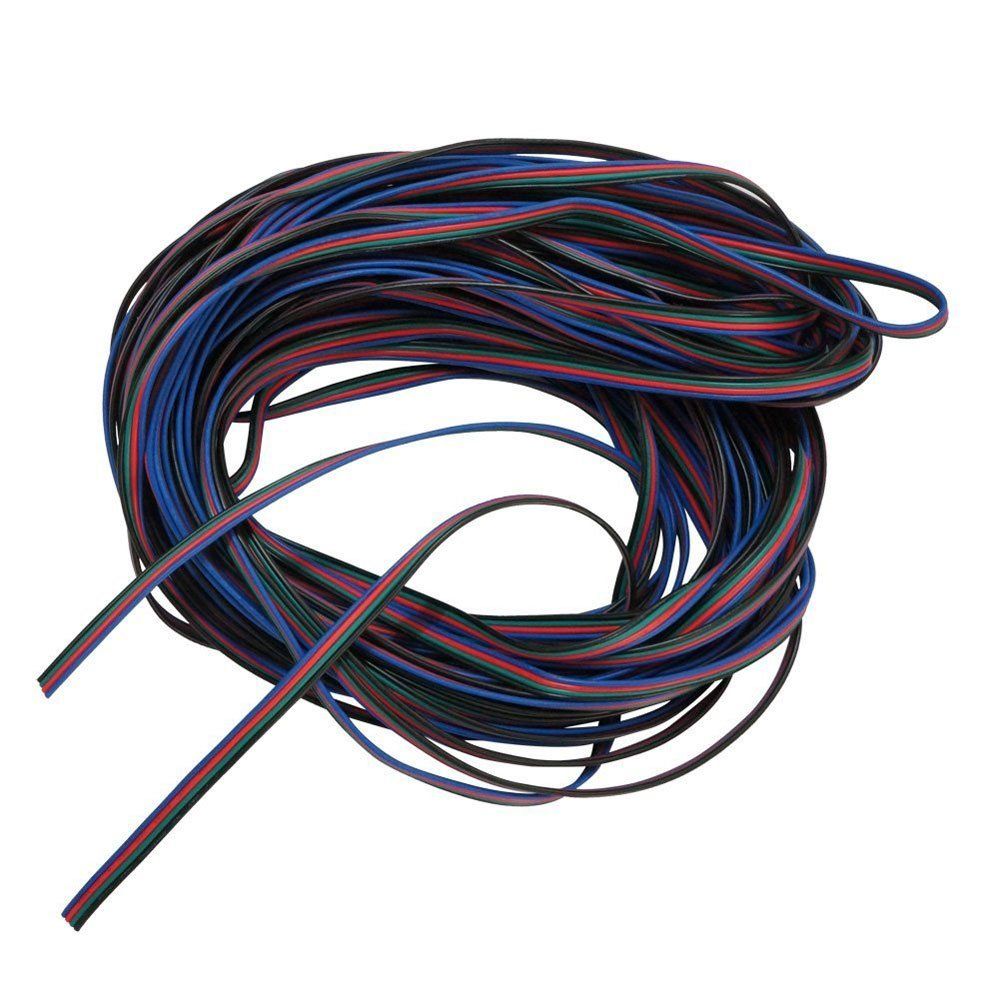 Detail Feedback Questions About 4 Colors 10m Rgb Wire Cable Wiring Extension Cord For Led Rope 5050 3528 On Alibaba Group