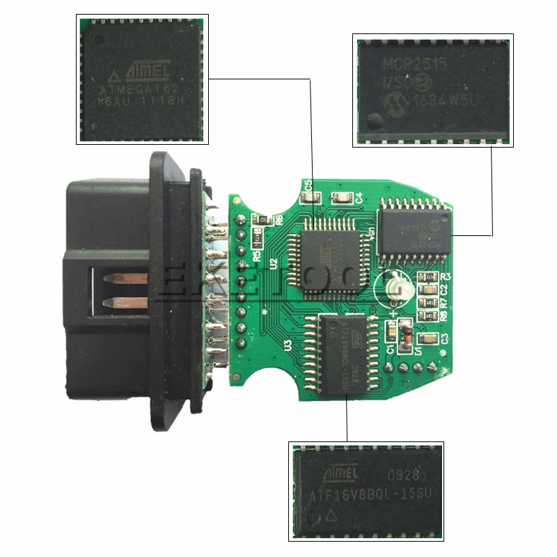 BMW INPA K+DCAN Green PCB FTDI FT232RL FROM UOBDAUTOCAR
