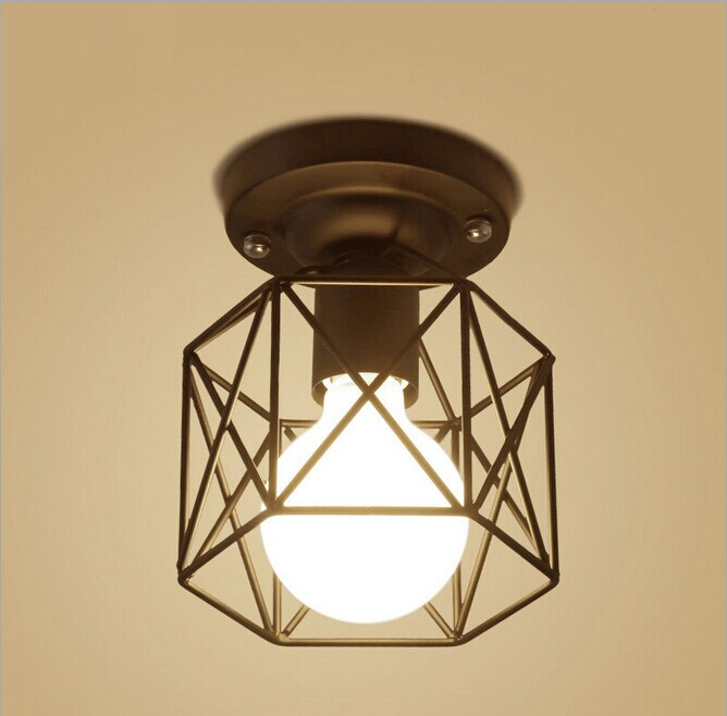 ФОТО E27 110-240V Vintage Iron White/Black Matte Painting Pendant Lamp Foyer Dining Room Bar Loft Pendant Light
