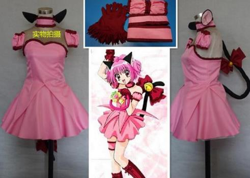 2016 Tokyo Mew Mew Power Zoey Cosplay Costume With Ear And Tail