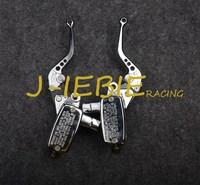 Chrome Brake Master Cylinder Clutch Levers for Kawasaki Vulcan 1500 Classic 1600 2000 Honda VTX 1800 2002 2008