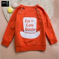 2016 Autumn New European/American Kids Children's Letter Printing Tops Tees 100% Cotton Long Sleeved T-shirt Boy Clothing 2-5Y