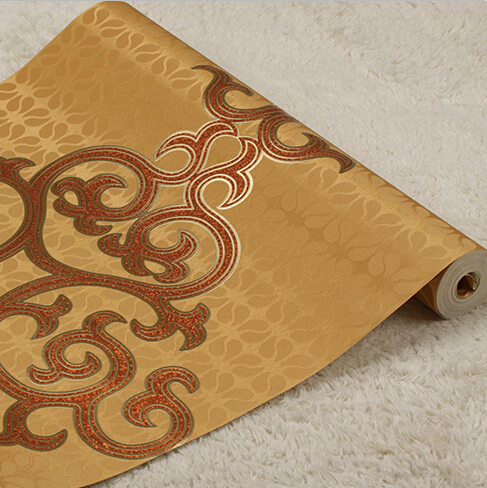 European luxury 3D PVC Wallpaper Roll Damascus Style Classical Decoration Desktop Wallpaper 3D Wall Paper For Living Room TV european 3d wallpaper moroccan style wall stickers waterproof kitchen toilet decoration classical pattern living room murals
