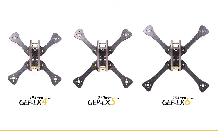 GEP-LX4/5/6 Leopard 7075 Aviation Aluminum Parts Body Shell Body Frame Accessories for FPV Racing RC Drone Quadcopter F21323/4/5 yukala h8c f183 2 4g 4ch 6 axis rc quadcopter drone parts main body body shell 2pcs set free shipping