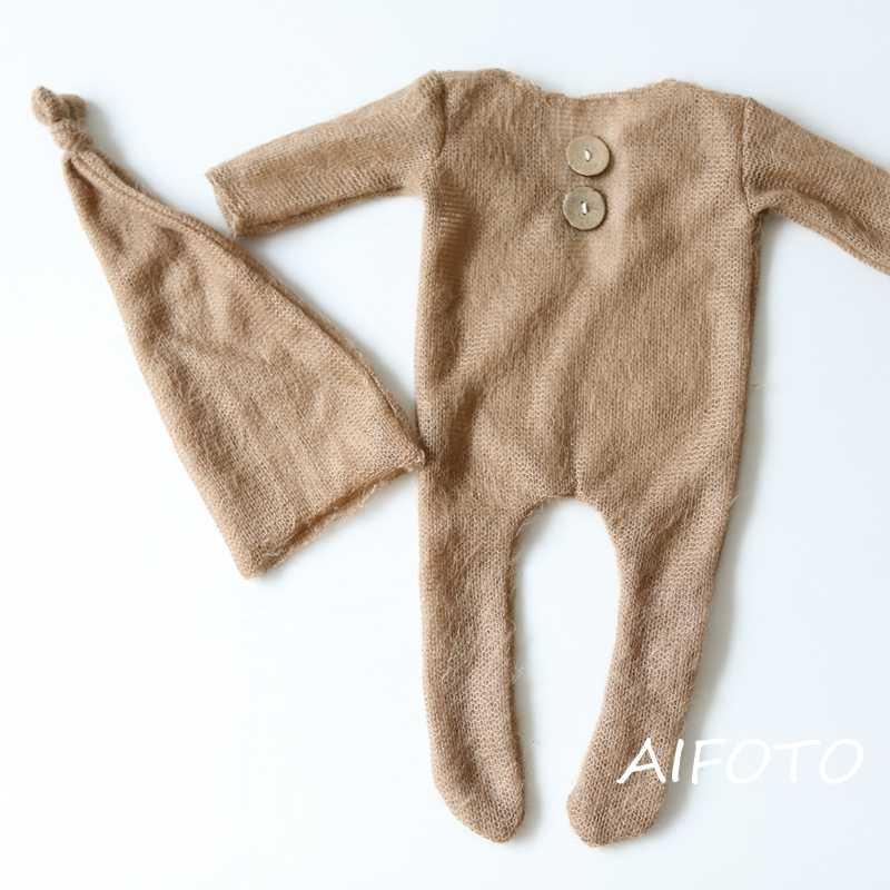 2019 ใหม่ Props ทารกแรกเกิดสำหรับทารกอุปกรณ์เสริมชุดเด็กหญิงเสื้อผ้า Overalls ยาว Sheeve Rompers ยิง Props
