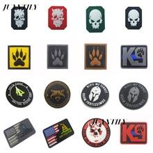 PVC Epoxy Hook&loop Armband K9 Service Dog Badge Epaulette  Patch for Backpacks Acrylic Badges Glow-in-the-dark Skulls Brooch