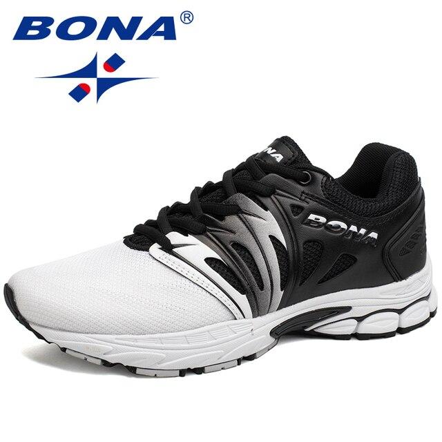 fa86b9a7b34c BONA новый классический стиль, мужские кроссовки, дышащая Спортивная обувь  на шнуровке, Мужская