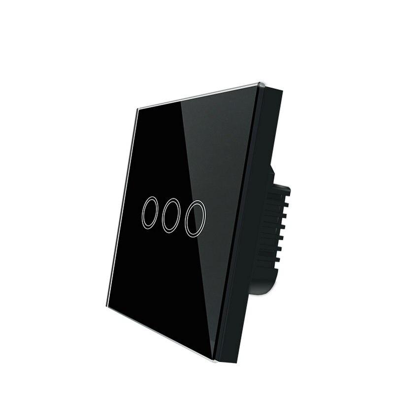 Touch Switch Smart Panel Wall interruptor 1/2/3 Gang wifi light switch EU standard wireless wall switch with Ewelink app