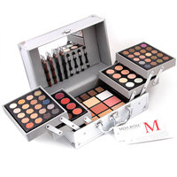MISS ROSE Fashion Portable Eyeshadow Palette Eye Shadow Powder Makeup Tool Pigment Three Layers Suitcase Matte Cosmetics Set