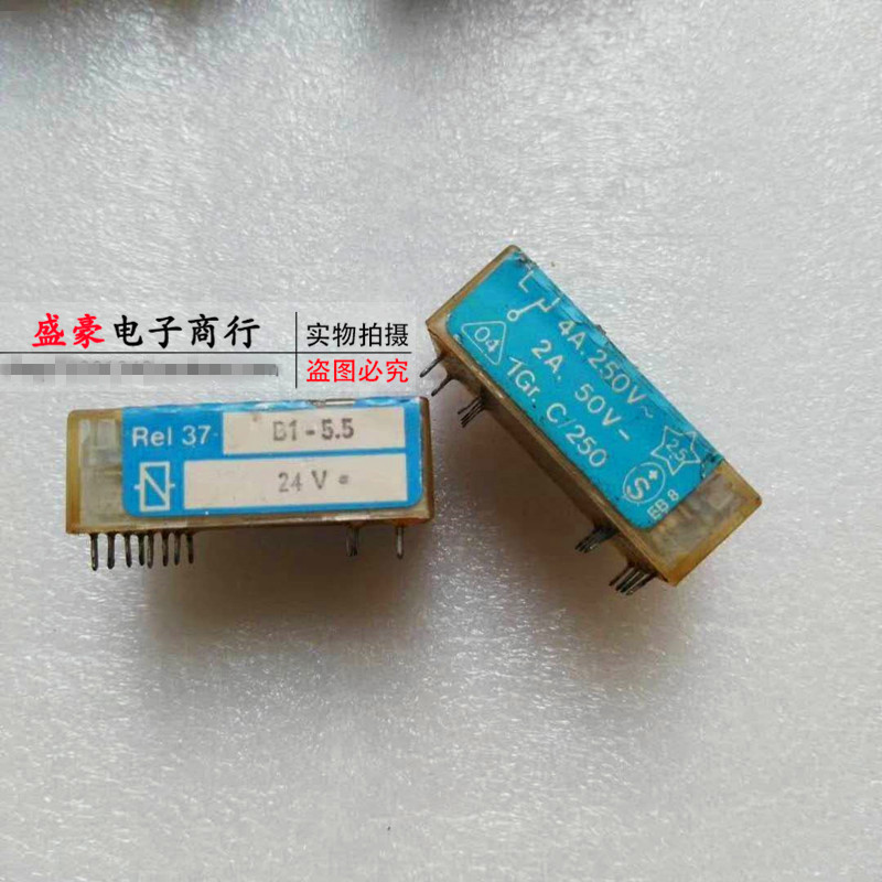Original new 100% REL37-B1-5.5 DC24V genuine relay two open two closed 8pin 841 p 2a c h 12vdc 25a 6pin two sets of normally open original relay