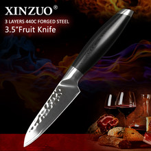 XINZUO 3.5'' Paring Knife Stainless Steel Clever Cutter Kitchen Steel Knife with Excellent G10 handle Gift Knives Lasting Sharp(China)