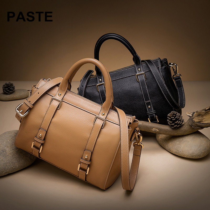 2018 New Fashion Women Bag Brand Women genuine Leather Handbag Woman Large Shoulder Bag Casual Tote Bag alta calidad piel bolsos new 2017 fashion brand genuine leather women handbag europe and america oil wax leather shoulder bag casual women