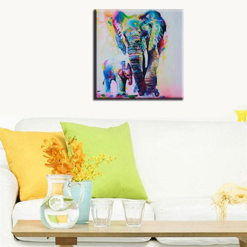 60cm Akvarell Elefant Inkjet Frameless Canvas Art Paintings Olja - Heminredning - Foto 2