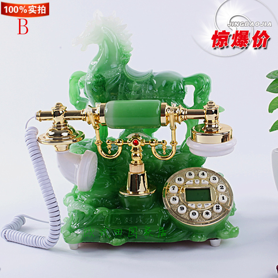 European telephone cable antique telephone fashion retro home office landline calls show special offer
