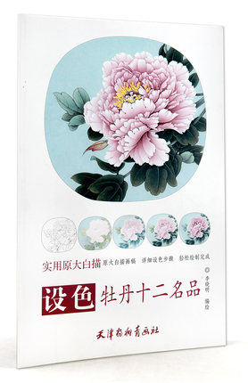 Famous Line Drawing And Color Peony Peony Twelve Step Explanation Bird Painting Techniques