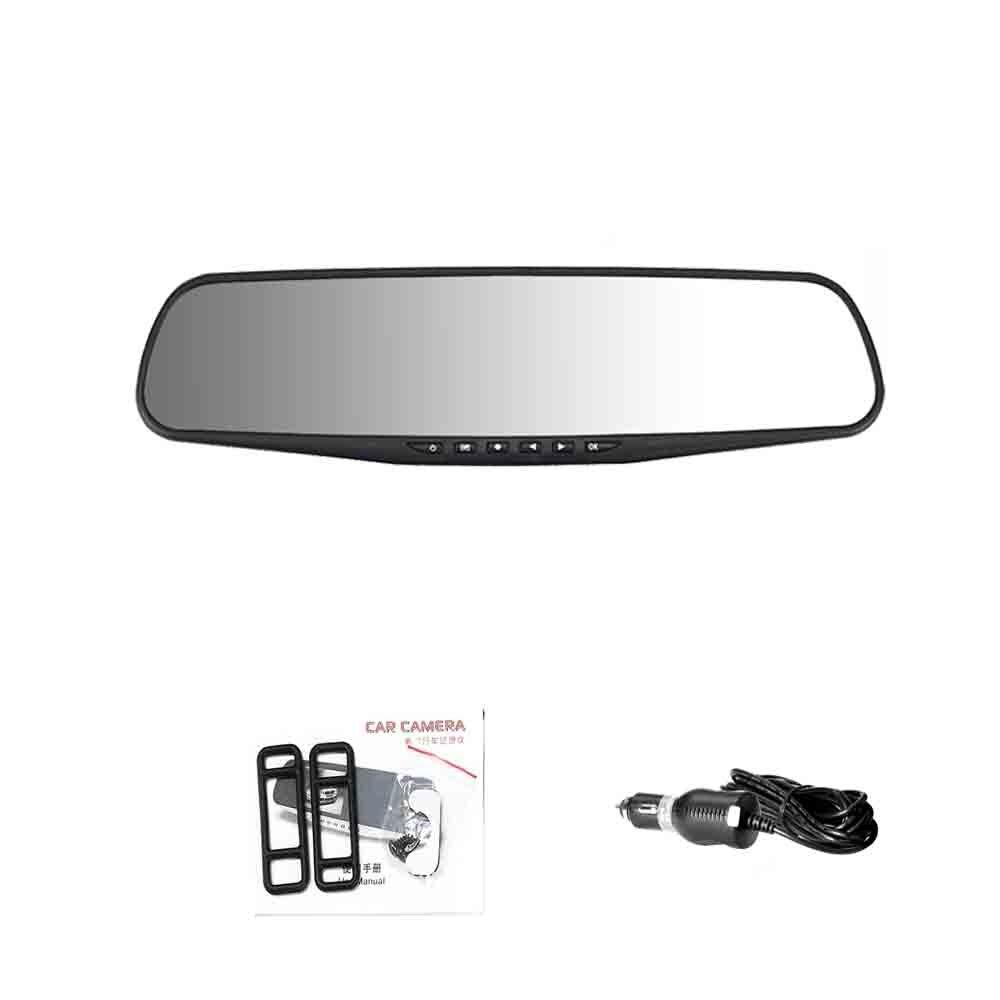 ADDKEY Автомобильный видеорегистратор Full HD 1080P 4,3 дюймов ips сенсорный экран рекордер двойной объектив с зеркалом заднего вида Авто регистратор тире камера dvr - Название цвета: without rear camera
