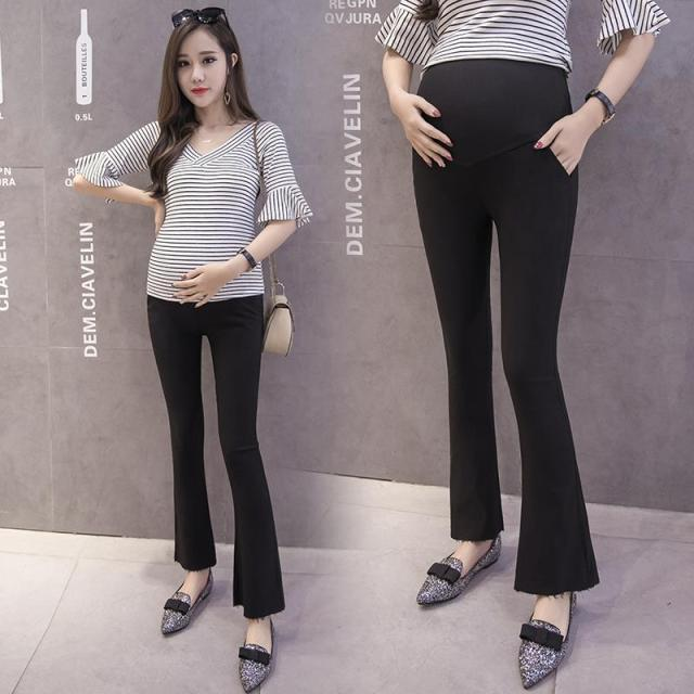5213733986d 221  Elastic Waist Belly Maternity Pants OL Office Ladies Formal Work Wear  Clothes for Pregnant Women Slim Pregnancy Trousers