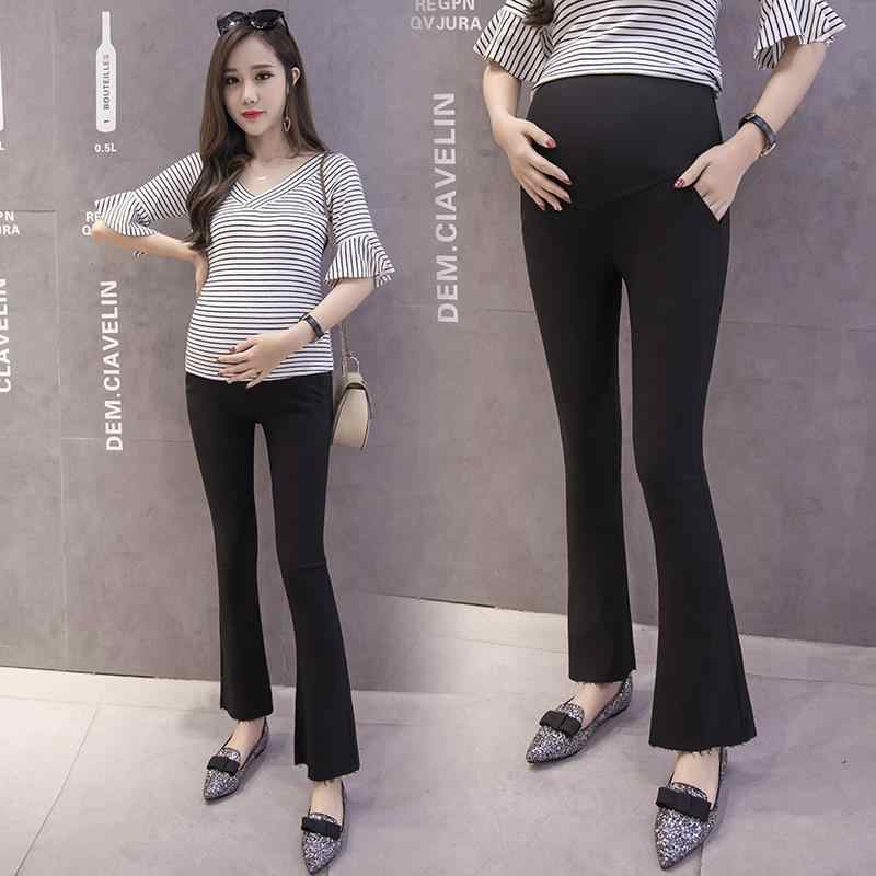 c4441aab1c28a 221# Elastic Waist Belly Maternity Pants OL Office Ladies Formal Work Wear  Clothes for Pregnant