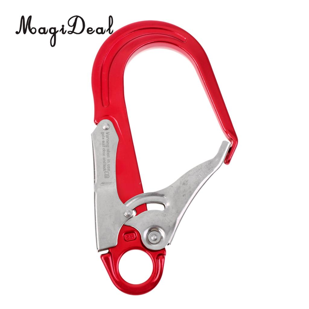 MagiDeal Durable Multi-Purpose 25KN buckle Aluminum Carabiner Mountaineering Buckle Protection Lanyard Climbing Snap Clip Hook 10a 5 in 1 multi purpose flashlight fire starter compass lanyard buckle